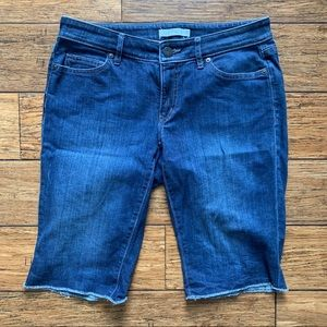 Medium Wash Blue Denim Jean Bermuda Shorts